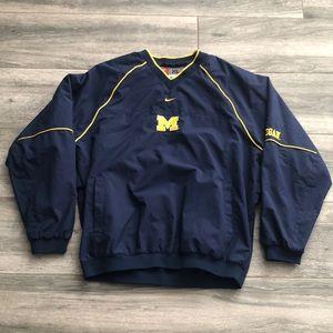 Vtg Nike Team Michigan Wolverines Pullover